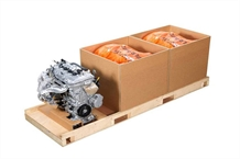 Automotive packaging for engine shippers